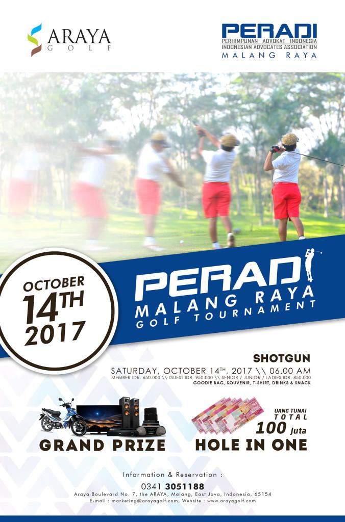 Poster Peradi Malang Raya Golf Tournamentx
